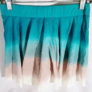 FRENCH CONNECTION Micro Mini Skirt 8 EMERALD BLUE